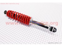Амортизатор задний GY6 -  345мм*d52мм (втулка 10мм / вилка 8мм), красный [NAIDITE]