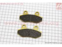 Тормозные колодки дисковые без уха к-т(2шт.) желтые [YONGLI]