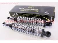 Амортизатор задний JH/CB/CG - 340мм*d59мм (под втулки) регулир., хром к-кт 2шт [NAIDITE]