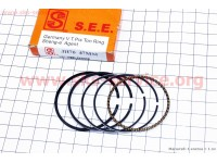 Кольца поршневые 70сс 47мм STD желтая коробка [SEE]