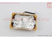 Фары квадратной передняя часть 6+1-LED линза с ободком, 165*105мм, TUNING [Китай]