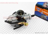 Карбюратор СВ/CG-200 (d=30), дросель под трос, с ускорительным насосом [JWBP]