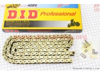 Цепь привода колеса 428Н*132L VX GOLD (с сальниками) [D.I.D.]