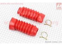 Гофра амортизатора переднего d=30/45mm; L=125mm к-кт 2шт, КРАСНЫЙ [Китай]