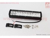 Фара дополнительная светодиодная влагозащитная - 24 LED с креплением, прямоугольная 75*295мм [Китай]