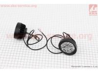 Фара дополнительная светодиодная влагозащитная (65*55mm) - 6 LED с креплением под зеркало, к-кт 2шт [Китай]