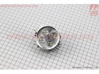 """Фара дополнительная светодиодная - 4 LED с креплением, """"компакт"""" СЕРАЯ [Китай]"""