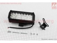 Фара дополнительная светодиодная влагозащитная - 24 LED с креплением, прямоугольная 76*166мм [Китай]