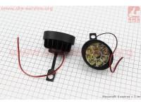 Фара дополнительная светодиодная влагозащитная (65*55mm) - 9 LED с креплением под зеркало, к-кт 2шт [Китай]