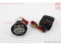 Фара дополнительная светодиодная влагозащитная - 6 LED с креплением, к-кт 2шт 64*52мм [Китай]