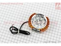 """Фара дополнительная светодиодная - 9 LED с креплением, """"компакт"""" ЗОЛОТИСТАЯ [Китай]"""