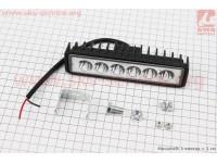 Фара дополнительная светодиодная влагозащитная - 6 LED с креплением, прямоугольная 150*37мм [Китай]