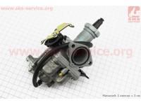 Карбюратор СВ/CG-150 (d=27), дросель ручной, с ускорительным насосом [Китай]