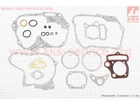 Прокладки двигателя JH-125cc-52,4 мм, к-кт 20 деталей [Китай]