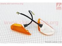 Honda TACT AF-16 повороты передние в сборе к-кт 2шт (желтые) [Taiwan]
