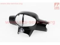 "Suzuki LETS-IV CA41A/45A пластик - руля передний ""голова"", ЧЕРНЫЙ [Китай]"