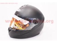 Шлем закрытый HF-122 М- ЧЕРНЫЙ матовый [FXW]
