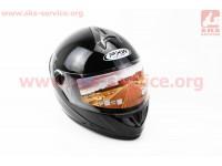 Шлем закрытый HF-122 L- ЧЕРНЫЙ глянец [FXW]