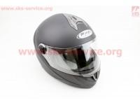Шлем закрытый HF-122 S- ЧЕРНЫЙ матовый [FXW]