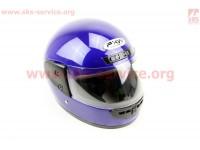 Шлем закрытый HF-101 S- СИНИЙ глянец [FXW]