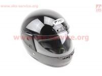 Шлем закрытый HF-101 M- ЧЕРНЫЙ глянец [FXW]