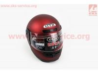 Шлем закрытый HK-221 - КРАСНЫЙ матовый + воротник (возможны царапины, дефекты покраски) [HTK]