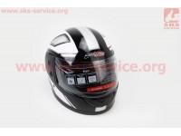 Шлем закрытый 825-3 S- ЧЕРНЫЙ с рисунком розово-серым [F-2]