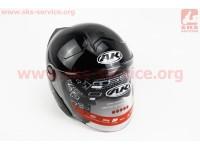 Шлем открытый + откидные очки AK-720 - ЧЕРНЫЙ [Китай]