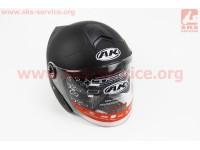 Шлем открытый + откидные очки AK-720 - ЧЕРНЫЙ матовый [Китай]