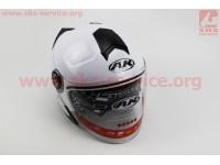 Шлем открытый + откидные очки AK-720 - БЕЛЫЙ [Китай]