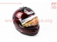 Шлем закрытый с откидным подбородком HF-108 S- БОРДОВЫЙ [FXW]