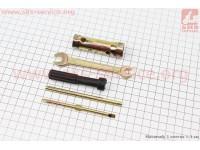 """Ключ свечной для 4Т - 16/18mm + 3 предмета (рожковый ключ 8*10mm/шток/отвертка+-) """"ЗИП"""" [Китай]"""