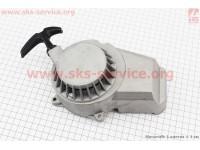"""ATV детский - Крышка двигателя с ручным стартером в сборе (метал """"серый""""), тип. 2 [Китай]"""