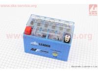 Аккумулятор 9Аh YTX9-BS (гелевый) 150/85/105мм, 2019 (завод OUTDO) [LEADER]
