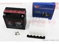 Аккумулятор 9Аh МОТО UВ9-BS кислотный (L135*W75*H137mm), 2020 [OUTDO]
