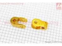 Удлинитель заднего амортизатора 27мм к-кт 2шт, желтый [Китай]