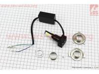 Лампа фары диодная LED-4 SUPER универсальная (к-кт разных креплений), с стабилизатором [Китай]