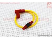 ПРОВОД TUNING к катушкам зажигания (желтый), 43см + колпачок свечной  [SplitFire]
