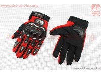 Перчатки XL-красные [PRO BIKER]