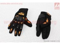 Перчатки мотоциклетные L-черно/оранжевые [КTM]