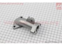 Патрубок карбюратора (алюминий с ушком), d - 22mm, h - 95mm [TMMP]