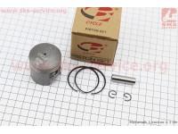 Поршень, кольца, палец к-кт Suzuki AD50/LETS 41мм +1,00 (палец 10мм) [B-cycle]