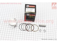 Поршень, кольца, палец к-кт 4T Suzuki AD50/LETS 50cc - 39мм STD (палец 10мм) [Mototech]