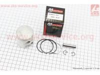 Поршень, кольца, палец к-кт Honda TACT65 44мм +0,25 (палец 10мм) [Mototech]