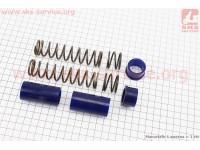 Ремонтный комплект передней вилки Yamaha JOG - втулки 4шт под шток 22,3мм + пружины 4шт [SALO]