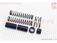 Ремонтный комплект передней вилки Suzuki AD - втулки 4шт под шток 21,7мм + пружины 4шт [SALO]