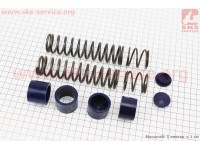Ремонтный комплект передней вилки Honda DIO - втулки 4шт + пружины 4шт+ заглушки 2шт [SALO]