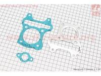 Прокладка цилиндра, головки цилиндра, натяжителя к-кт 3шт Suzuki Lets 4T(безасбест) [SALO]