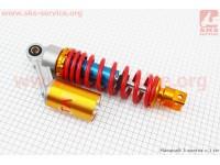 Амортизатор задний GY6/Yamaha - 270мм*d55мм (втулка 10мм / вилка 8мм) газовый регулир., красный [TATA]