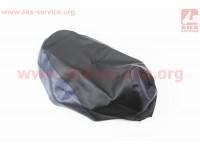 Чехол сидения Honda DIO AF34 (эластичный, прочный материал) черный/синий [Украина]